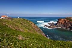 Pêcheur du Portugal .hut de côte Photographie stock
