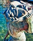 Pêcheur en bronze moderne Statue, Fremantle, Australie occidentale photo stock