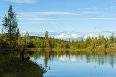 Pêcheur et paysage Photos stock