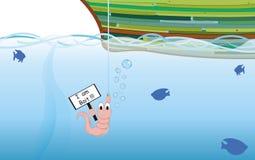 Pêcheur et son amorce illustration de vecteur