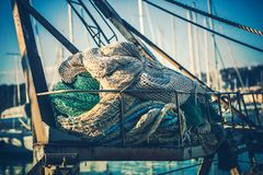 Pêcheur Fishing Nets Images stock