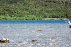 Pêcheur hondurien de mouche Photo libre de droits