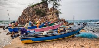 Pêcheur malais Photographie stock libre de droits