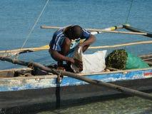 Pêcheur malgache Photos libres de droits