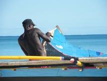 Pêcheur malgache Photos stock
