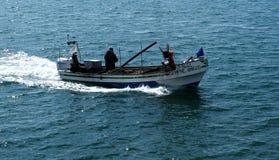 Pêcheur Off Ilha De Culatra Portugal photos stock