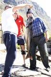 Pêcheur réussi images stock