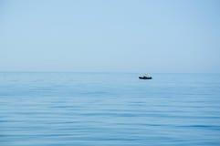 Pêcheur seul Images stock