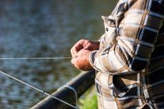 Pêcheur sur le fleuve Images libres de droits