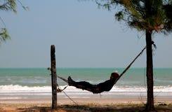 Pêcheur thaï faisant une pause Photo libre de droits
