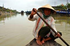 Pêcheur typique du Vietnam Images libres de droits