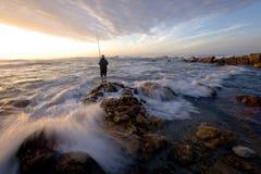 pêcheur vieux Photo libre de droits