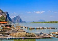 Pêcheur Village Images libres de droits