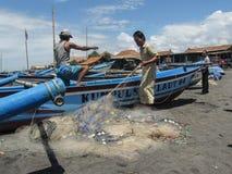 Pêcheur In Yogyakarta, Indonésie Photographie stock libre de droits