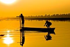 Pêcheurs Photo libre de droits
