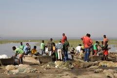 Pêcheurs africains Image libre de droits