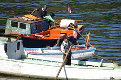 Pêcheurs Angelmo, Chili Photographie stock libre de droits