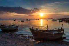 Pêcheurs asiatiques Images libres de droits
