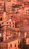 Pêcheurs au-dessus du Bosphprus Photographie stock libre de droits