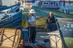 Pêcheurs au Maroc Photo libre de droits
