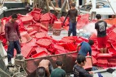 Pêcheurs birmans Images stock