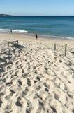 Pêcheurs Cronulla de plage Images libres de droits
