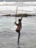 Pêcheurs d'échasse Photos libres de droits