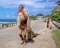 Pêcheurs dans Baracoa Cuba Photographie stock libre de droits