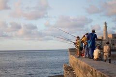 Pêcheurs dans Habana Images stock