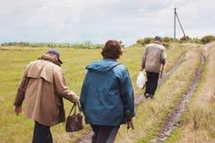 Pêcheurs dans le village Photo libre de droits