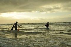 Pêcheurs de lance Image libre de droits