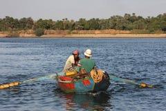 Pêcheurs du Nil Images stock
