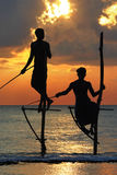 Pêcheurs du Sri Lanka Photos stock