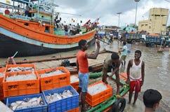 Pêcheurs en Inde photos libres de droits