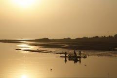 Pêcheurs en service Images stock