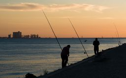 Pêcheurs - Lisbonne Image stock