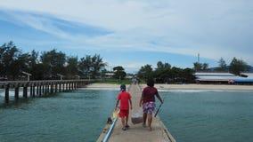 Pêcheurs locaux en Thaïlande Photo stock