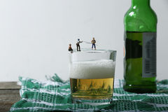 Pêcheurs miniatures photographie stock