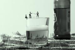 Pêcheurs miniatures Images libres de droits