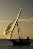 Pêcheurs sur l'île de Zanzibar image stock