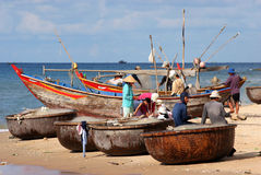 Pêcheurs vietnamiens Photo stock
