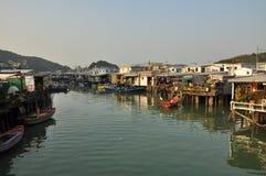 Pêcheurs village, Hong Kong de Tai O images stock