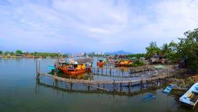 Pêcheurs village, Kuantan, Malaisie photographie stock libre de droits