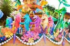 Pêchez du petit film de sirène dans un défilé de DisneyWorld Image stock