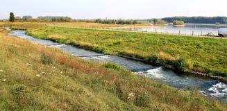 Pêchez l'échelle de canalisation ou de saumons dans le Rhin hollandais Photo stock