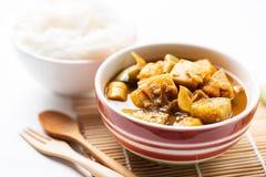 Pêchez la soupe aigre à organes, nourriture thaïlandaise du sud photo libre de droits