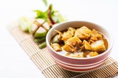 Pêchez la soupe aigre à organes, nourriture thaïlandaise du sud photographie stock