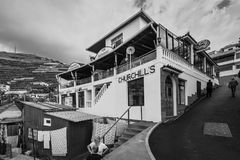 Pêchez le restaurant en Camara de Lobos, Madère, Portugal Photographie stock