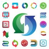Pêchez symboles de l'information d'insigne de signes de maths de la géométrie d'illustration de vecteur de marque de forme d'icôn Image stock