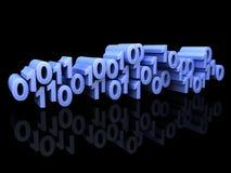 Pêle-mêle bleu de nombres binaire Image libre de droits